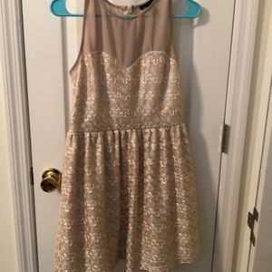 Forever 21 Gold Party Dress